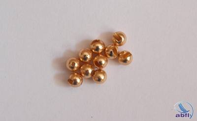 Slotted Tungsten Beads Gold (10)