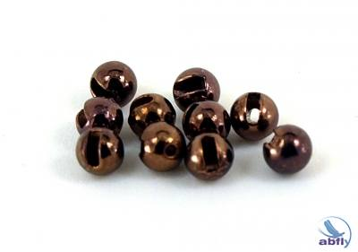 Coffee metalic slotted tungsten beads (10)
