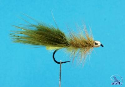 Mucha Streamer cone head gold wooly bugger